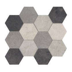 Limestone - Hexagon Mosaic